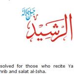Allah name Al-rasid