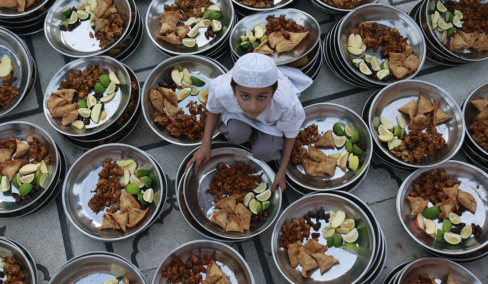 Little Kid Preparing Iftar in Pakistan